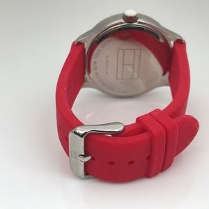Tommy Hilfiger Accessories - Tommy Hilfiger Women Watch Red Rubber Band 3ATM